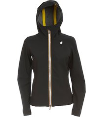 k-way lil bonded jersey bomber jacket w/hood and zip