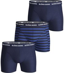 björn borg 3-pack boxers peacoat striped
