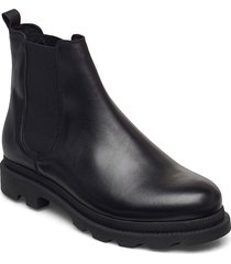 biacyan leather chelsea boot shoes chelsea boots svart bianco