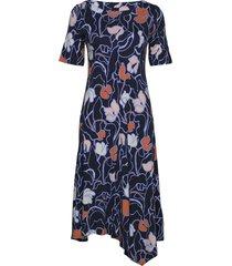 ladies dress, iiris knälång klänning blå nanso