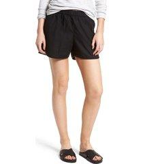 women's madewell pull-on shorts, size medium - black