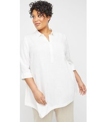 cape may linen blend popover tunic