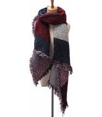 donna sciarpa coperta in cashmere e lana scialle