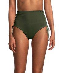melissa odabash women's madrid lace-up bikini bottom - khaki - size 40 (4)