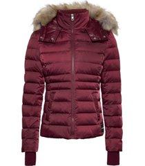 chaqueta mid weight down nylon jacket rojo vino calvin klein