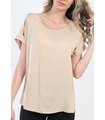 blusa boton beige night concept