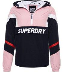 superdry women's color block overhead jacket