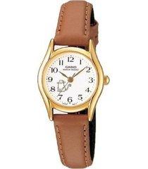 reloj ltp-1094q7b8 casio marron