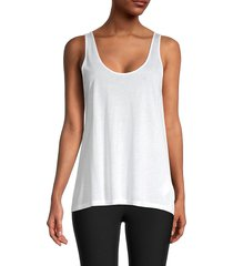 vince women's scoopneck tank top - freesia - size xs