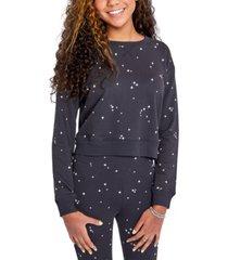 sundown by splendid juniors' jada star-print sweatshirt