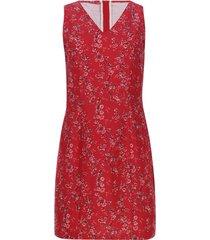 vestido flores con cremallera trasera color rojo, talla 6