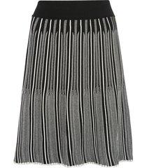casasola bi-colour stretch fit mini skirt - black