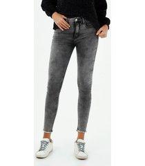 jean para mujer topmark, jeans poppy tiro alto plano cintura con pretina