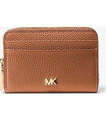 mk portafoglio piccolo in pelle martellata - cuoio (marrone) - michael kors