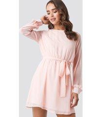 na-kd chiffon dress - pink