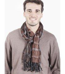 bufanda marrón spiga 31