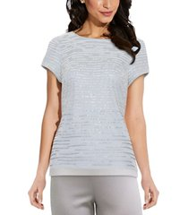 adrianna papell sequined top