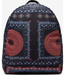 mandala print backpack - black - u