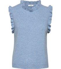 madison waistcoat vests knitted vests blå nué notes
