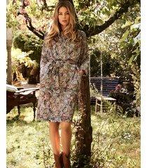 zijden jurk met paisley-print