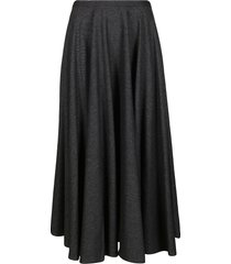 lardini grey wool-blend skirt