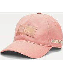 tommy hilfiger men's lewis hamilton cotton baseball cap pink -