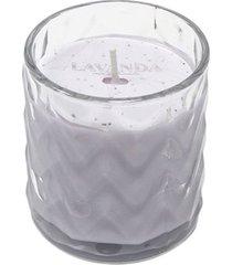vela aromática le fragrance com porta vela de vidro lavanda