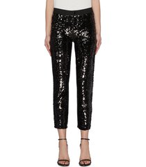 'ruby' sequin cropped cigarette jeans