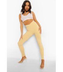 w ofcl legging met lage taille, camel