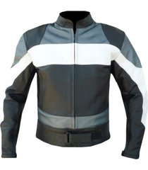 mens biker leather black grey white biker leather jacket men style