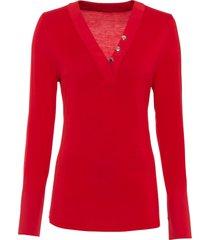 maglia a maniche lunghe (rosso) - bodyflirt