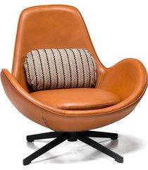 fotel salomon brązowy