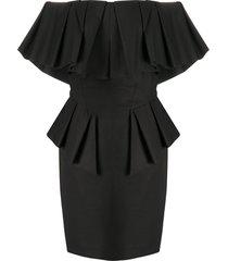 alexandre vauthier off-the-shoulder mini dress - black
