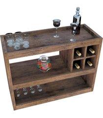 aparador bar 4050 luxo canela madeirado móveis jb bechara