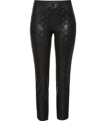 pantaloni stretti pitonati (nero) - bodyflirt
