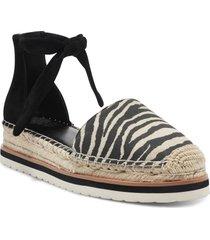 women's vince camuto binadee ankle tie platform espadrille, size 10 m - black