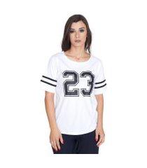 camiseta shatark college  branco