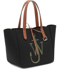 jw anderson women's belt tote bag - black/green