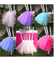 any color chair decor tutu skirt wedding table chair decoration for parties xmas