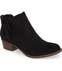 women's lucky brand bebhina waterproof western bootie, size 6 m - black