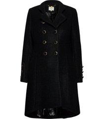 annabellcr coat wollen jas lange jas zwart cream