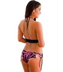 panty tipo bikini jessie de la rosa lingerie para mujer - negro