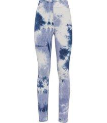leggings (blu) - rainbow