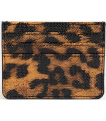 kelly card case - leopard
