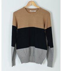 sweater beige airborn tricolor