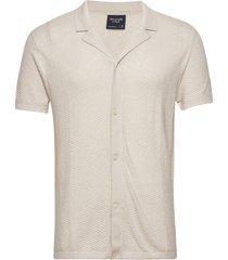 anf mens sweaters kortärmad skjorta beige abercrombie & fitch