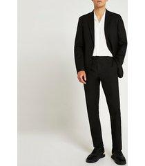 river island mens black slim fit twill suit pants