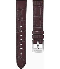 cinturino per orologio 18mm, marrone scuro, placcato color oro rosa
