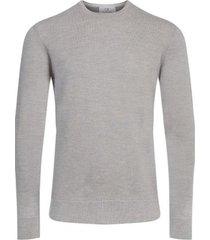 sweater wool gris claro calvin klein