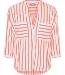 blus vmerika stripe 3/4 shirt curve